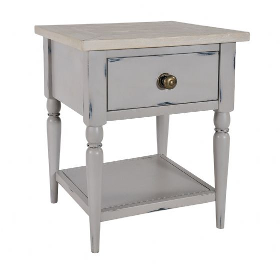 Lostwithiel Grey Bedside / Lamp Table - Special Order
